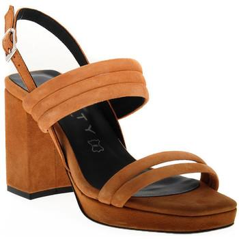 Schuhe Damen Sandalen / Sandaletten Vienty TAN JIM Marrone