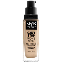 Beauty Damen Make-up & Foundation  Nyx Can't Stop Won't Stop Full Coverage Foundation nude  30 ml