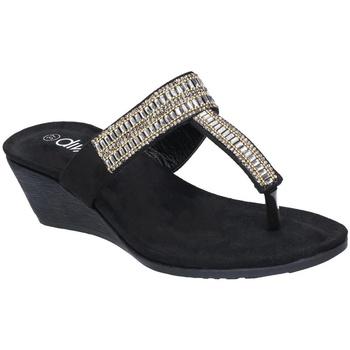 Schuhe Damen Zehensandalen Divaz  Schwarz