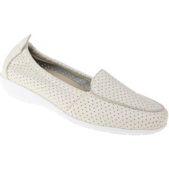 Schuhe Damen Slipper Natural Feet Mokassin Adela Farbe: beige beige