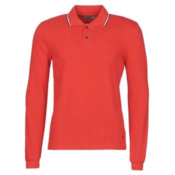 Kleidung Herren Langärmelige Polohemden Casual Attitude NILE Rot