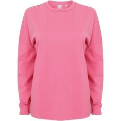 Kleidung Herren Sweatshirts Skinni Fit Slogan Pink