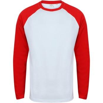 Kleidung Herren Langarmshirts Skinni Fit SF271 Weiß/Rot