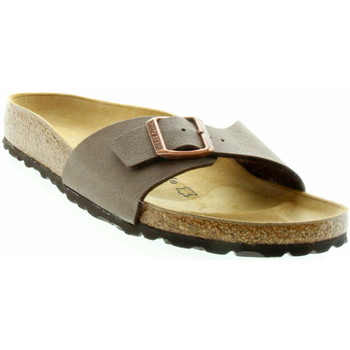 Schuhe Damen Pantoffel Birkenstock Classic Pantolette Madrid 040093 Braun