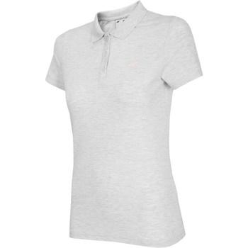 Kleidung Damen T-Shirts 4F NOSH4 TSD007 Biały Melanż Weiß, Grau
