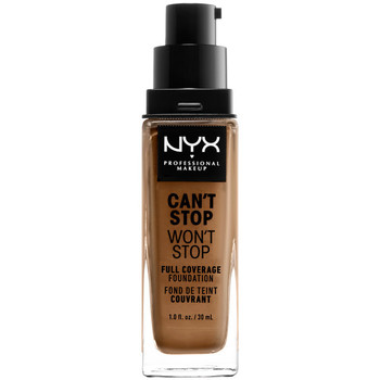 Beauty Damen Make-up & Foundation  Nyx Professional Make Up Can't Stop Won't Stop Full Coverage Foundation nutmeg