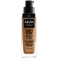 Beauty Damen Make-up & Foundation  Nyx Can't Stop Won't Stop Full Coverage Foundation golden  30 m