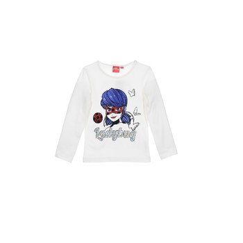 Kleidung Mädchen Langarmshirts TEAM HEROES MIRACULOUS LADYBUG Weiss