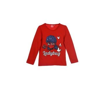 Kleidung Mädchen Langarmshirts TEAM HEROES  MIRACULOUS LADYBUG Rot