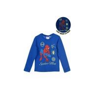 Kleidung Jungen Langarmshirts TEAM HEROES  SPIDERMAN Blau