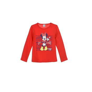 Kleidung Mädchen Langarmshirts TEAM HEROES  MINNIE Rot