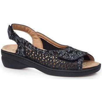 Schuhe Damen Sandalen / Sandaletten Calzamedi JUANETES ELASTICA SANDALEN SCHWARZ