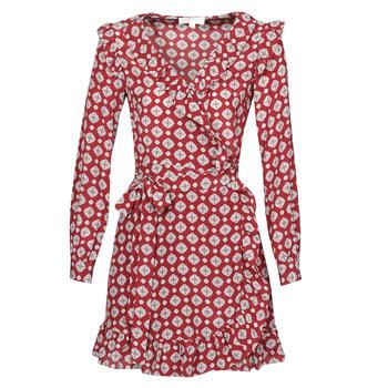Kleidung Damen Kurze Kleider MICHAEL Michael Kors LUX PINDOT WRAP DRS Bordeaux