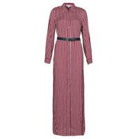 Kleidung Damen Maxikleider MICHAEL Michael Kors WARM PLAYFL SHIRT DR Bordeaux / Weiss / Marine