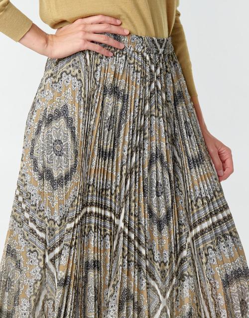 MICHAEL Michael Kors MEDALLION PLTED SKIRT Multicolor - Kostenloser Versand    - Kleidung Röcke Damen 19500 l1oGs