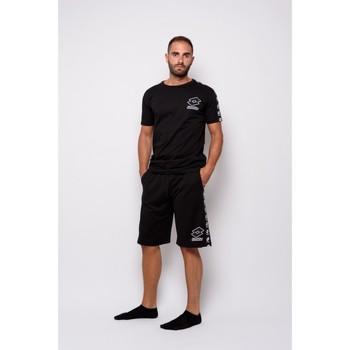 Kleidung Herren T-Shirts Lotto Halbarm-Trikot (ltu016-schwarz) T-shirt Schwarz