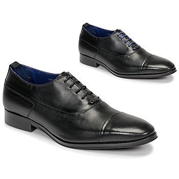 Schuhe Herren Richelieu Azzaro LITCHI Schwarz