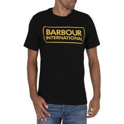Kleidung Herren T-Shirts Barbour Wesentliches großes Logo-T-Shirt schwarz