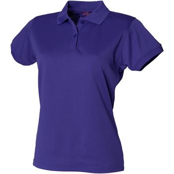 Kleidung Damen Polohemden Henbury Coolplus Kräftiges Violett