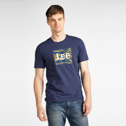 Kleidung Herren T-Shirts Lee T-shirt  Camo Package Dark Navy bleu marine/jaune/blanc