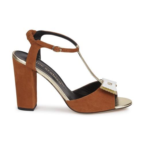 Karine Arabian ABBAZIA Weiss / Goldfarben  Sandaletten Schuhe Sandalen / Sandaletten  Damen 327,20 1fddc3
