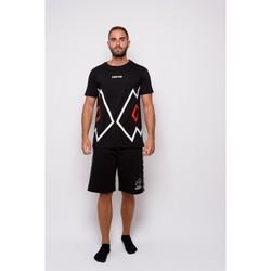 Kleidung Herren T-Shirts Lotto Halbe Ärmel Jersey-T-Shirt (ltu027-schwarz) Schwarz