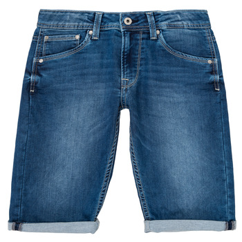 Kleidung Jungen Shorts / Bermudas Pepe jeans CASHED SHORT Blau