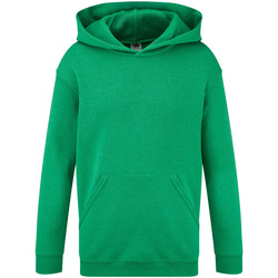 Kleidung Kinder Sweatshirts Fruit Of The Loom 62043 Grün meliert