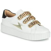 Schuhe Damen Sneaker Low Vanessa Wu BASKETS À SCRATCHS ANIMALIER Weiss / Leopard