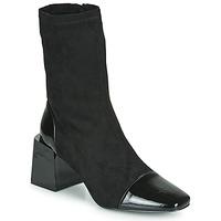 Schuhe Damen Low Boots Vanessa Wu BOTTINES CHAUSSETTES À TALON BLOC Schwarz