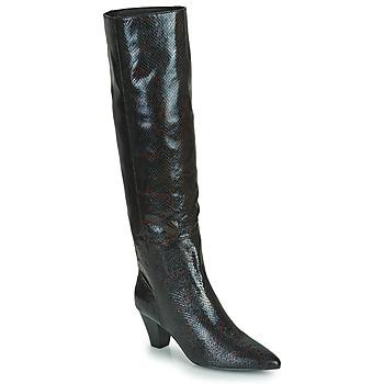 Schuhe Damen Klassische Stiefel Vanessa Wu BOTTES SERPENT À TALON CUBAIN Schwarz