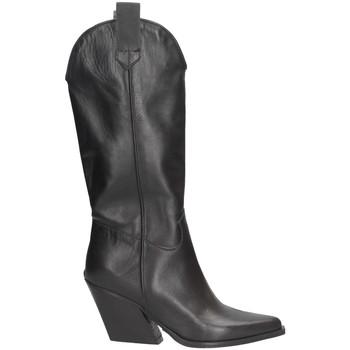 Schuhe Damen Klassische Stiefel Made In Italia 705 Texano Frau SCHWARZ SCHWARZ