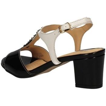 Melluso K95337 SCHWARZ UND WEISS - Schuhe Sandalen / Sandaletten Damen 7740