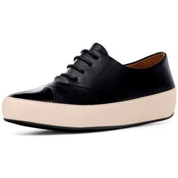 Schuhe Damen Derby-Schuhe FitFlop DUE TM OXFORD LEATHER  - BLACK BLACK