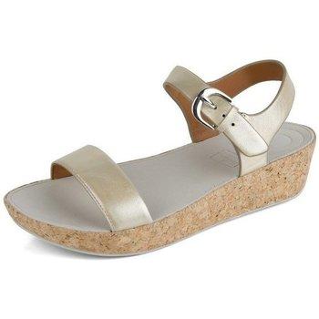 Schuhe Damen Sandalen / Sandaletten FitFlop BON TM II BACK-STRAP SANDALS - GOLD IRIDESCENT GOLD IRIDESCENT