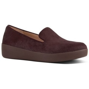 Schuhe Damen Slipper FitFlop AUDREY FAUX PONY SMOKING SLIPPERS - BERRY BERRY