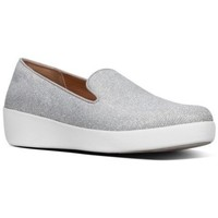 Schuhe Damen Slipper FitFlop AUDREY GLITZY - LOAFERS - SILVER es LOAFERS - SILVER es