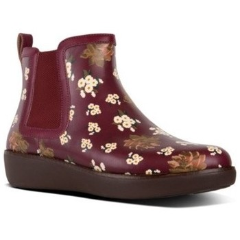 Schuhe Damen Boots FitFlop CHAI DARK FLORAL - BERRY MIX BERRY MIX