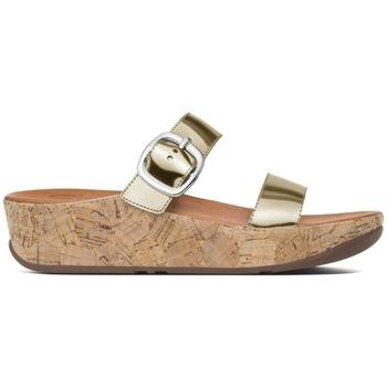 Schuhe Damen Pantoffel FitFlop Stack TM slide - Gold Gold