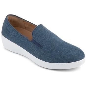 Schuhe Damen Slipper FitFlop SUPERSKATE TM LOAFERS SHIMMER DENIM - BLUE BLUE