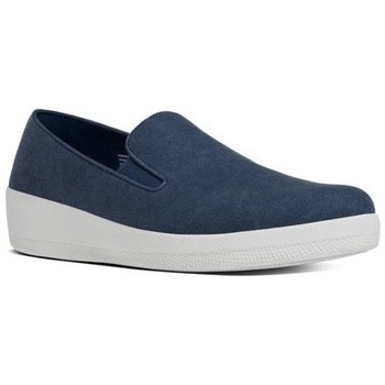 Schuhe Damen Slip on FitFlop SUPERSKATE TM CANVAS - MIDNIGHT NAVY MIDNIGHT NAVY