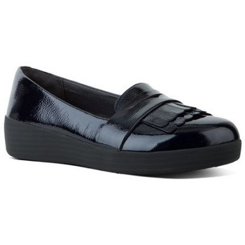 Schuhe Damen Slipper FitFlop FRINGEY TM SNEAKERLOAFER PATENT - MIDNIGHT NAVY MIDNIGHT NAVY