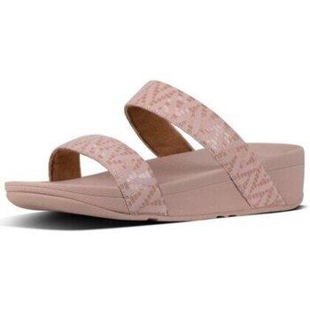 Schuhe Damen Pantoffel FitFlop LOTTIE CHEVRON-SUEDE SLIDE - OYSTER PINK OYSTER PINK