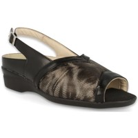 Schuhe Damen Sandalen / Sandaletten Dtorres LUGANO WIDE FEET  SANDALEN SCHWARZ_01