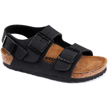 Schuhe Kinder Sandalen / Sandaletten Birkenstock Milano bf Schwarz