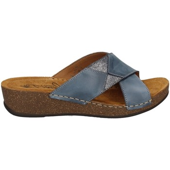 Schuhe Damen Pantoffel Florance 22132-2 JEANS