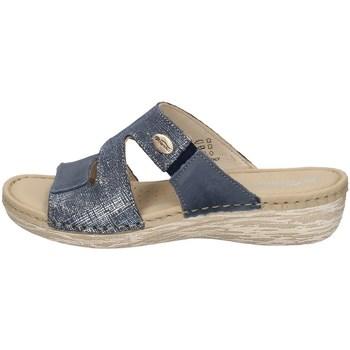 Schuhe Damen Pantoffel Florance 21724-1 BLAU