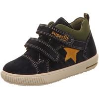 Schuhe Jungen Sneaker High Superfit Klettschuhe Stiefelette Leder \ MOPPY 352-8000 braun