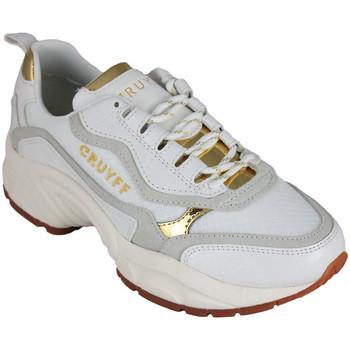 Schuhe Damen Sneaker Low Cruyff ghillie white/gold Weiss