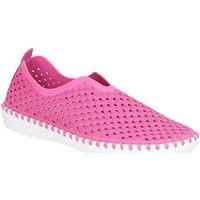 Schuhe Damen Leinen-Pantoletten mit gefloch Divaz  Fuchsia